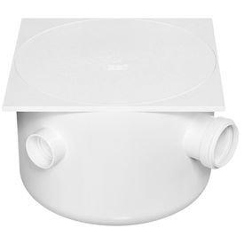 caixa sifonada branca com tampa quadrada 250 mm x 172 mm x 50 mm herc 9161