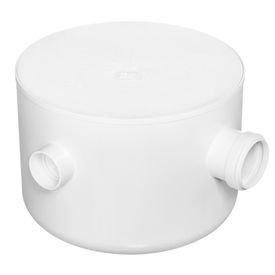 caixa sifonada branca com tampa redonda 250 mm x 172 mm x 50 mm herc 9074