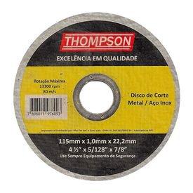 disco corte inox thompson 412 hiperfer