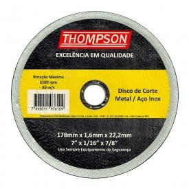 disco corte inox thompson 7 hiperfer