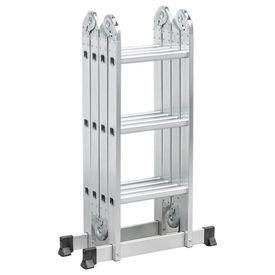 8 escada articulada em aluminio 3 4 12 degraus vonder