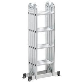 8 escada articulada em aluminio 4 x 4 16 degraus vonder