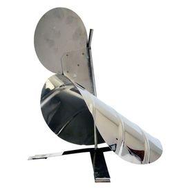 9339 chapeu inox giratorio com tripe modelo galo para cano para chamine fogao a lenha zatti