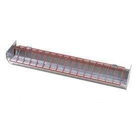 2761 1 comedouro linear tipo calha 50 cm com separadores zatti