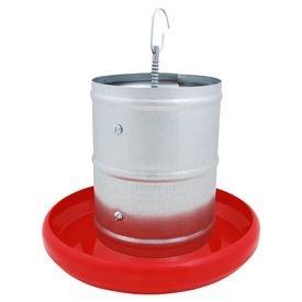 comedouro galvanizado tubular com prato plastico zatti