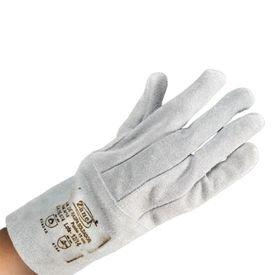 12652 luva de raspa soldador longa linha clute de couro com reforco interno 15 cm zanel
