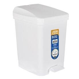 11531 1 lixeira plastica branca com pedal e capacidade de 9 litros metasul