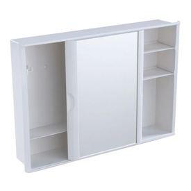 12380 armario plastico versatil com porta de correr e espelho sobrepor ou embutir branco a23 astra