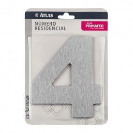 11782 numero residencial de aluminio com adesivo de fixacao n 4 primafer atlas