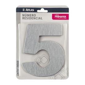 11783 numero residencial de aluminio com adesivo de fixacao n 5 primafer atlas