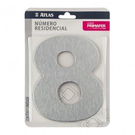 11786 numero residencial de aluminio com adesivo de fixacao n 8 primafer atlas