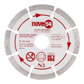 disco de corte diamantado 105 mm segmentado n3 nove54