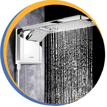 Chuveiro ducha acqua storm duo shower lorenzetti branco cromado