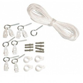 12993 jogo completo de corda para varal em polietileno 13 metros com acessorios secalux