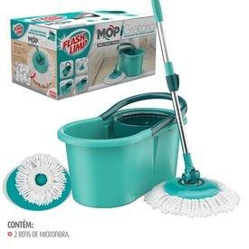 balde spin mop 360 com esfregao completo e refil flash limp 0004 10297 3